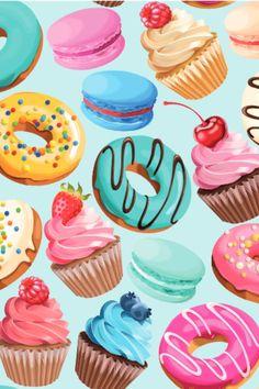 Nous avons tous nos péchés mignons mais bien souvent, nos gourmandises sont aussi les plus mauvaises pour la ligne et les plus caloriques... 😔  #alimentation #prisedepoids #calories #astuceminceur #pertedepoids #ligne #healthyfood #kilos #diététique Cute Backgrounds, Calories, Retro, Birthday Cake, Desserts, Food, Spiral Notebooks, Spirals, The Originals