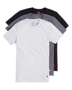 Polo Ralph Lauren Slim Fit Crewneck Tee, Set of 3