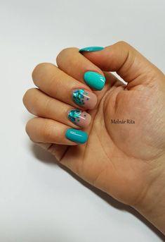 Menta-nude színű körmök konfetti díszítéssel Molnár Ritától.  Mint-Nude nails made from gel polish (PearLac One Step 088 - mint, PearLac Classic 190 - nude), with confetti decor on them.  #pearlnails #pearlac #mintnails #gelpolish #gellac #confettinails #nudenails #gelpolished #shortnails #salonnails #bluenails Confetti Nails, Nude Nails, Nail Designs, Hairstyles, Wedding, Color, Turquoise, Hairdos, Make Up