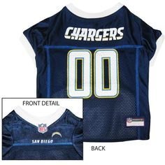 San Diego Chargers NFL Dog Jersey - White Trim