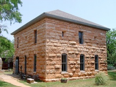 Old Taylor County Courthouse and Jail (Buffalo Gap, Texas) by courthouselover, via Flickr