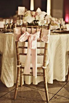 gold chivari chairs bride and groom.