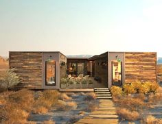 LivingHomes has unveiled the new version of the C6 prefab house located on a 20-acre site north of Joshua Tree National Park in southern California.