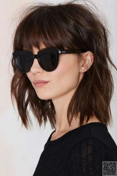 9. Lob Shag with #Bangs - Join the Fringe #Festival with These 37… #Blunt