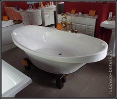 Cada baie ovala Gondola 195 x 105 cm din compozit marmura