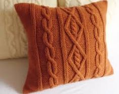 Image result for knitted cushion covers