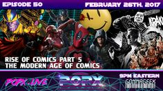 """In the series finale of the """"History of Comics in Pop Culture,"""" Team POPX concludes their series with a look into the current modern age of comics. Geek Culture, Pop Culture, Todd Mcfarlane, Frank Miller, Science Fiction, Indie, Comic Books, Age, Spawn"""
