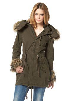 Khujo Parka »Wolve« Leder Boots, Mantel, Military Jacket, Winter Jackets, Coat, Vintage, Fashion, Cowl, Jackets
