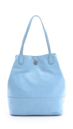 Tory Burch Michelle Tote in Light Chambray