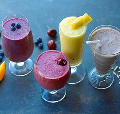 The Only 4 Smoothie Recipes You'll Ever Need.  Fresh fruit, a good blender, and a little know-how are all you need.