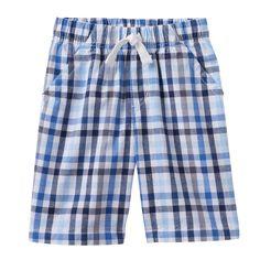 Boys 4-7x Jumping Beans® Plaid Shorts, Boy's, Size: 4, White