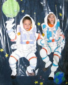 futuristic vbs for kid astronaut suit photo booth backdrop