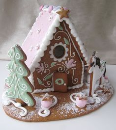 Mansikkamäki Christmas Trends, Pink Christmas, Christmas Baking, Christmas Time, Ginger House, Xmas Food, Christmas Gingerbread, Cookie Designs, Holiday Cookies