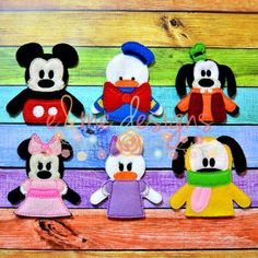 Finger Puppets – Play House Friends Each set is OOAK yours will vary slightly from the example photo Finished set $21