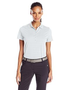 Callaway Womens Golf Short Sleeve Pique Open Mesh Polo Shirt White XLarge ** Check out this great product.