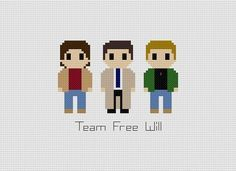 This pattern features Castiel, Dean, & Sam of Supernatural. This is a listing for a pattern only. It is a PDF file and you will need Adobe