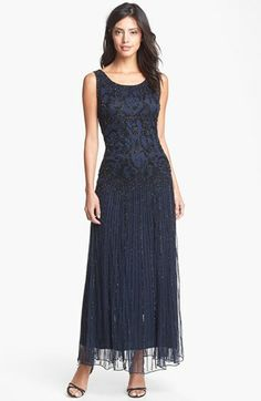Womens 1920 Downton Abbey Inspired Clothing - Pisarro Nights Embellished Mesh Dress (Regular & Petite) $198.00 http://www.vintagedancer.com/1920s/1920-downton-abbey-inspired-clothing/