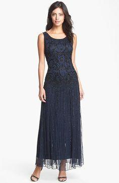 Pisarro Nights Embellished Mesh Dress