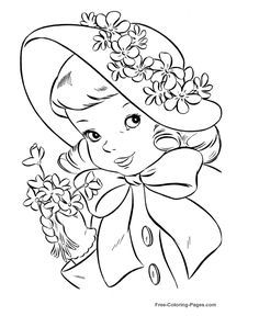 Vintage art printable coloring pages ideas Easter Coloring Pages, Disney Coloring Pages, Coloring Book Pages, Printable Coloring Pages, Coloring Pages For Kids, Princess Coloring Sheets, Hand Embroidery Patterns, Copics, Digital Stamps