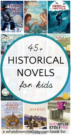 Historical fiction chapter books for kids that cover a wide variety of topics and time periods. Fiction Non-fiction audiobooks magazines literature Books For Boys, Childrens Books, History Books For Kids, History Teachers, Teaching History, Historical Fiction Books For Kids, Historical Pictures, Good Books, Books To Read
