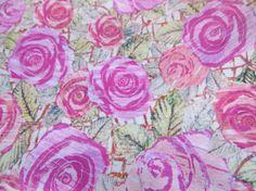 Liberty of London fabric Kilburn Rose Floral cotton fabric Tana Lawn Tissu telas Tessuti Sewing Patchwork fat quarter by FitaDeVies