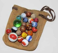 Marble bag (love the clay marbles in this selection)