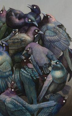 """""""A Murder of Crows"""" ~ Tiffany Bozic ~ Miks' Pics """"Artsy Fartsy Vll"""" board @ http://www.pinterest.com/msmgish/artsy-fartsy-vll/"""