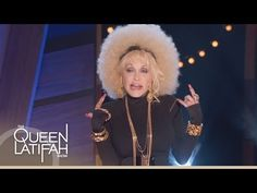 """OK... OK, this is more bizarre than funny but Dolly is a really good sport and VERY funny. The LA Times said, """"See what you've done to America, Miley."""" - Dolly Parton Raps on The Queen Latifah Show"""