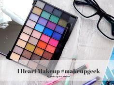 I Heart Makeup #makeupgeek Palette - Kalter Kaffee