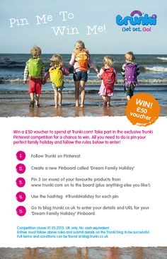 Pin Me to Win Me!  #TrunkiHoliday competition - win a voucher to spend at trunki.com!