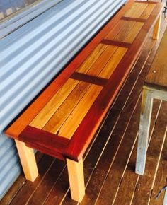 Bench seat outdoor. Illusive Wood Designs