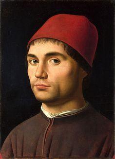 Antonello da Messina - Portrait of a Man - National Gallery London. Messina, Renaissance Men, Italian Renaissance, Italian Painters, Italian Artist, Renaissance Portraits, Renaissance Paintings, National Gallery, Roman Art