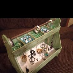 I took an old carpenter's box and transformed it to a jewelry holder/display!  Www.liasophia.com/KatieWard