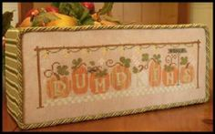 Pumpkins 4 Sale is the title of this cross stitch pattern from Little House Needleworks that is stitched with DMC threads. If you wish to fi...