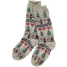 Fair Isle Long Socks ($20) ❤ liked on Polyvore featuring intimates, hosiery, socks, accessories, socks/tights, socks and tights, women, thigh-high socks, woolen socks and long wool socks
