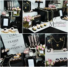 Chanel Themed Baby Shower Sweet Table