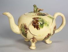Staffordshire Lead Glazed Creamware Teapot and Cover | Sale Number 2357, Lot Number 180 | Skinner Auctioneers
