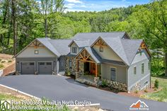 Plan Mountain Craftsman with Great Outdoor Spaces in Back A dynamic exterior with stone accents, clapboard around the main level and shingles in the gables a Basement House Plans, Lake House Plans, Mountain House Plans, Craftsman House Plans, New House Plans, Dream House Plans, House Floor Plans, Craftsman Homes, Craftsman Style