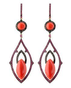 wendy yue coral earrings <3