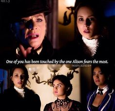 """Mrs Grunwald quote """"One of you has been touched by the one Alison fears the most."""" PLL"""