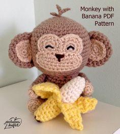 Monkey Amigurumi Crochet Pattern by Autumnleaflet on Etsy