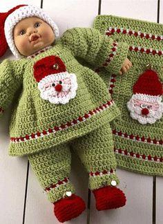 Santa Baby Doll Set Crochet Pattern