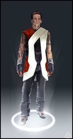 Futuristic Style, Chara finish by ~jamga on deviantART Character: Casey Johnson Cyberpunk Rpg, Cyberpunk Fashion, Character Concept, Character Art, Character Outfits, Character Ideas, Concept Art, Sci Fi Characters, Shadowrun