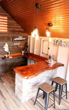 DIY Bar in the He Shed by Kloter Farms