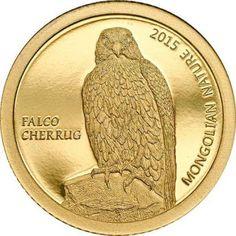 Mongolia 500 Togrog Gold Coin 2015 Falco Cherrug