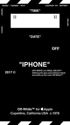 "OffWhite Wallpaper 壁紙 iPhone ""TYPE B"""
