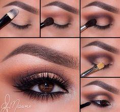 Neutral glamorous eyes