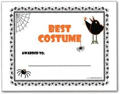 best halloween costume award  Best Halloween costume award | Halloween fun | Pinterest ...