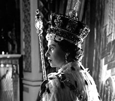 Queen Elizabeth on the day of her Coronation. 6/2/1953