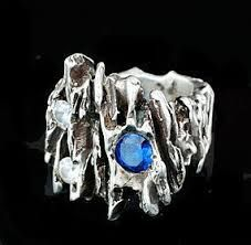 Image result for brutalist silver Brutalist, Silver Jewelry, Sapphire, Gemstone Rings, Fashion Jewelry, Design Inspiration, Turquoise, Space Age, Jewellery